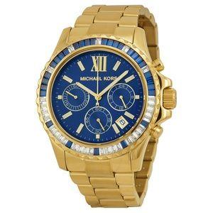 Michael Kors Navy Baguette Watch